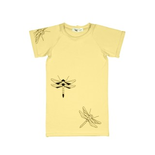 pepeandnika presents tjorven kids t shirt dress yellow dragonfly for girls summer gots certified bio cotton