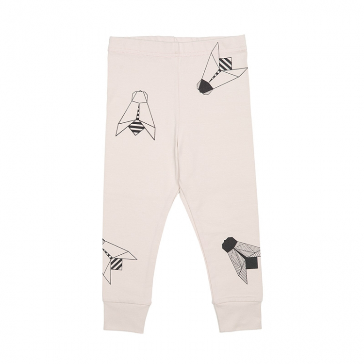 Pepe&Nika PepeandNika Kindermode Little Apparel Kids Fashion Tjorven Kids Leggings 'grey fly' casual print vernal handmade organic