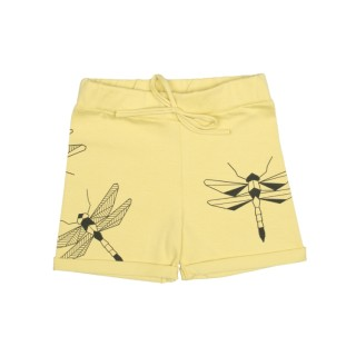 Pepe&Nika PepeandNika Kindermode Little Apparel Kids Fashion Tjorven Kids Shorts 'Yellow dragonfly' casual print vernal handmade organic handgemacht Libelle gelb boys girls