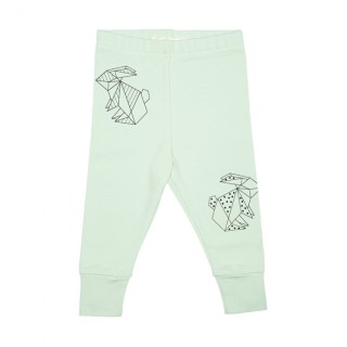 Pepe&Nika PepeandNika Kindermode Little Apparel Kids Fashion Tjorven Kids Leggings 'green bunny' casual print vernal handmade organic handgemacht Hase