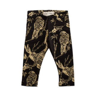 pepe&Nika Pepeandnika Littel Apparel Leggings Birds Canada Thief&Bandit gold black handmade organic design bio
