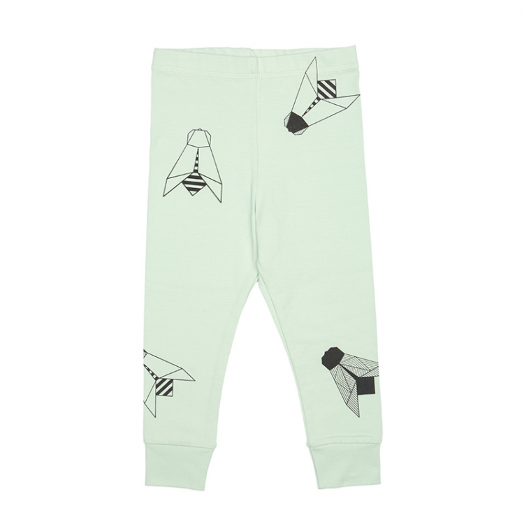 Pepe&Nika PepeandNika Kindermode Little Apparel Kids Fashion Tjorven Kids Leggings 'green fly' casual print vernal handmade organic