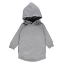Pepe and Nika Gray Label Niederlande Kindermode Basics Organic fair-trade Baumwolle Hoody Kleid Mädchen Casual grau