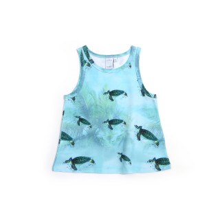 Pepe and Nika Little Man Happy Berlin Sommer Kleidung Kinder Organic fair-trade tank top mädchen blau