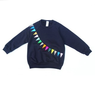 pepe&Nika pomberlin design sweater garland navy cool hipster funky autumnal