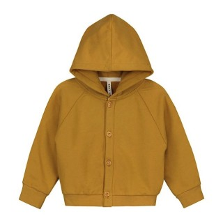 Pepe&Nika Pepe and Nika Gray Label Netherlands Amsterdam Little Apparel Baby Kids hooded sweater organic cotton mustard