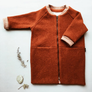 Pepe&Nika PepeandNika Monkind Berlin Kindermode Little Apparel Orange Wool Coat Copper girls de luxe Mädchen winterlich herbstlich Kupfer winterly autumnal wool wolle basics
