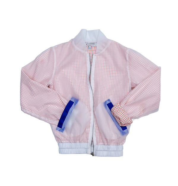 Pepe&Nika PepeandNika Little Apparel Kids Fashion Paade Mode BOMBER CARREAUX Waterproof Blouson white red casual cool chic de luxe autumnal patterned