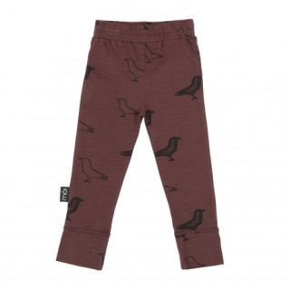 Pepe&Nika Pepe and Nika MÓI Iceland Little Apparel Kids Baby Leggings Vine Signature wine red organic cotton comfortable bird print funky hipster
