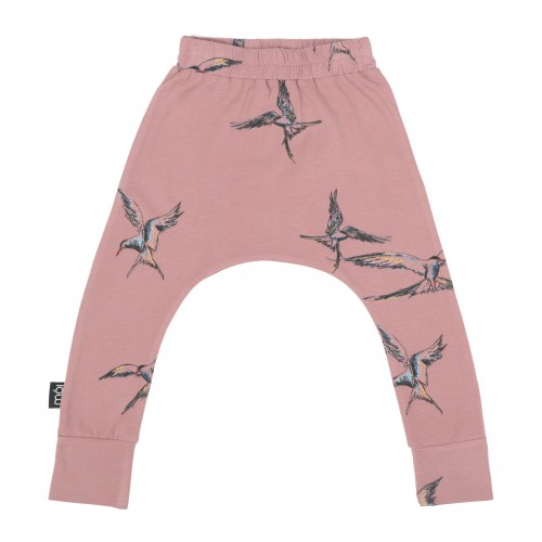 Pepe&Nika Pepe and Nika MOI Scandinavian Little Apparel Iceland Leggings Kids Baby casual stylish cool print baggy pants rose romantic birds fairtrade organic