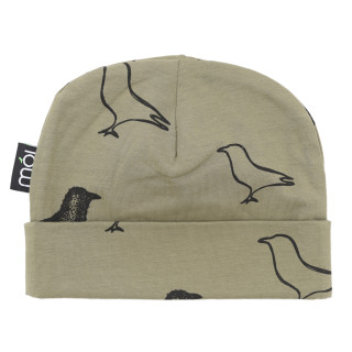 Pepe&Nika Pepe and Nika MÓI Iceland Little Apparel Kids Baby Beanie Avocado Signature olive green organic cotton comfortable print funky hipster