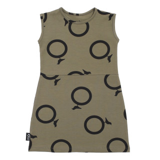 Pepe&Nika Pepe and Nika MÓI little apparel Dress Avocado Circles green comfortable organic fairtrade