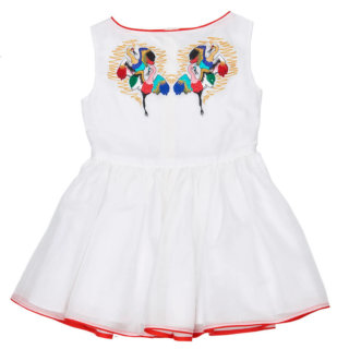 Pepe&Nika Pepe and Nika Paade Mode Latvia Summer Collection Girls Dress White  Silky  Linen