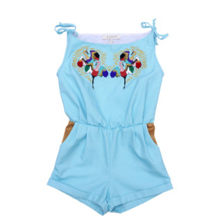 Pepe&Nika Pepe and Nika Paade Mode Latvia Girls Summer Collection 2016 Beach Jumpsuit Romper Blue