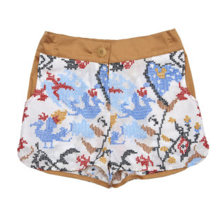 Pepe&Nika Pepe and Nika Paade Mode Latvia Girls Summer 2016 Beach Shorts Ethno