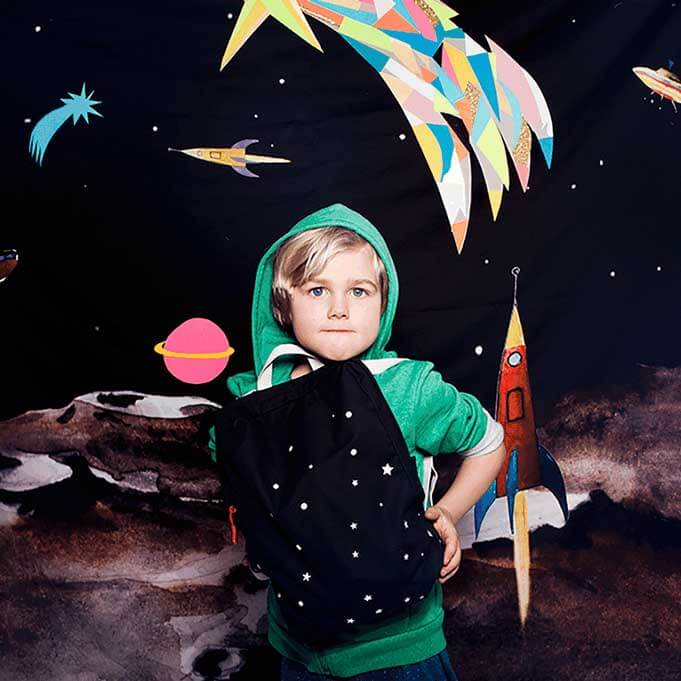 pepe and nika rainbow warriors by esther zahn made in germany glow in the dark small backpack navy stars