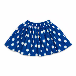 pepe and nika presents loulou des indes summery royal blue skirt made from cotton for lovely girls