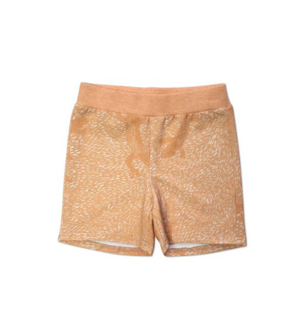 pepe and nika ateljee organic cotton made in California kids wear unisex peach shorts summery