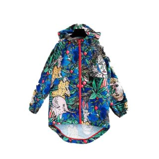 Pepe&Nika PepeandNika Wolf&Rita Little Apparel Kindermode Windbreaker Dans La Foret Castelbajac Paris casual colorful farbenfroh Print animals Tiere playful verspielt vernal frühlingshaft sommerlich summery unisex kids