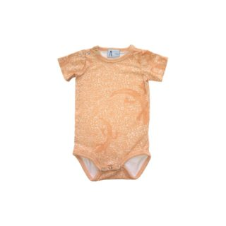 Pepe&Nika PepeandNika Kids Fashion Little Apparel Kindermode California Orange Lizard Baby Onesie Ateljee Pullover unisex vernal unisex print organic bio casual animal Tier peach Body summery sommerlich frühlingshaft