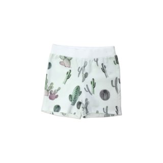 Pepe&Nika PepeandNika Kindermode Kids Fashion Little Apparel Ateljee California Scandinavia Cactus Shorts boys kids Jungen Kaktus Shorts casual luxurious de luxe print Kaktus summery sommerlich organic bio white weiss