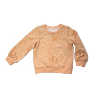 Pepe&Nika PepeandNika Kids Fashion Little Apparel Kindermode California Orange Lizard Sweatshirt Ateljee Pullover unisex autumnal vernal unisex print organic bio casual animal Tier toddler peach kids boys girls Mädchen Jungs