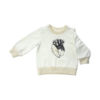Pepe&Nika PepeandNika Kids Fashion Little Apparel Kindermode California Baby Badger Sweatshirt Ateljee cream Pullover creme unisex autumnal vernal unisex print organic bio casual