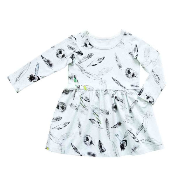 pepeandnika ateljee white feather dress