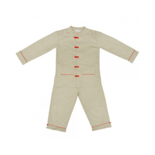 Pepe&Nika PepeandNika Little Apparel Kids Fashion Kindermode Atticus and Gilda Chinese Pyjamas beige Schlafanzug Pajamas kids unisex elegant chic casual
