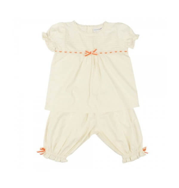 Pepe&Nika PepeandNika Little Apparel Kids Fashion Kindermode Atticus and Gilda Cream Summer Set girls summery elegant sommerlich romantic cute classical Pyjamas