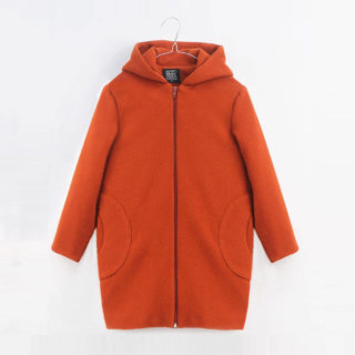 Pepe&Nika PepeandNika Little Apparel MOTORETA Spain Babies Girls Baby Wool Coat orange-brown autumnal winterly basics casual chic de luxe elegant winterly