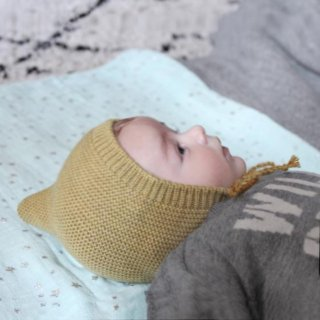 Pepe&Nika PepeandNika Kids Fashion Little Apparel Kindermode BARNABÉ AIME LE CAFÉ France Frankreich Merino Pointed Cap Bonnet Zipfelmütze Mütze caramel plain autumnal wool Wolle vernal frühlingshaft herbstlich Beguin imp