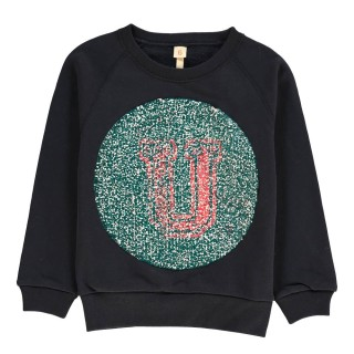 Pepe&Nika PepeandNika Bellerose Little Apparel Belgium Sweatshirt with sequins navy funky causal cool
