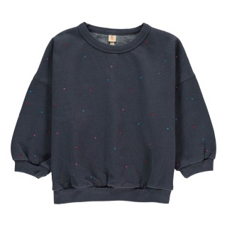Pepe&Nika PepeandNika Bellerose Little Apparel Belgium Sweatshirt dark grey with dots girls boys funky causal cool elegant