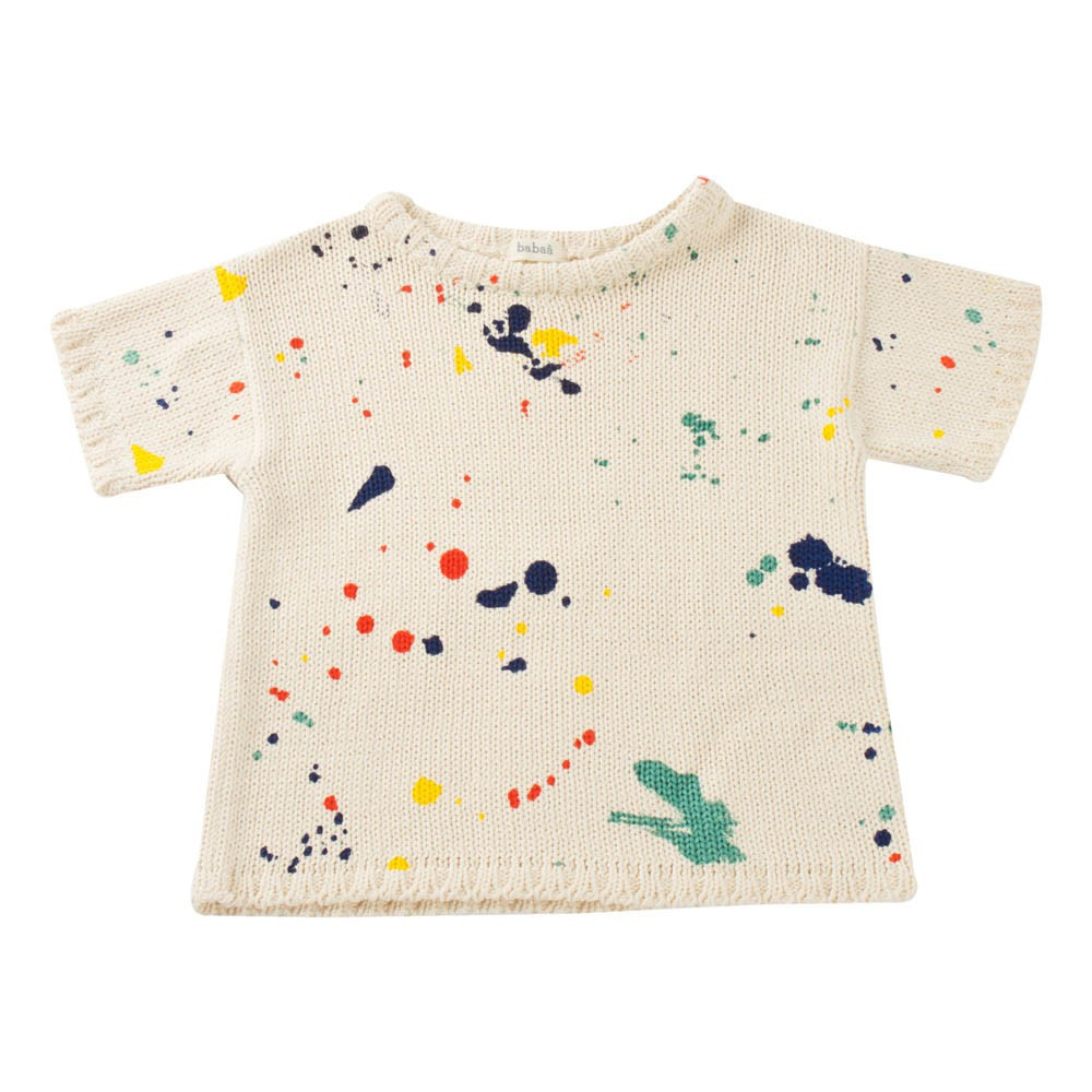 Pepe&Nika Pepe and Nika Bobo Choses Little Apparel Spain Kids Girls short sleeved sweater pollock beige blurs of colour