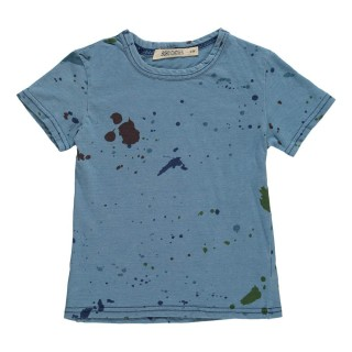 Pepe&Nika Pepe and Nika Bobo Choses Little Apparel Spain Kids Baby Boys Girls T-Shirt Pollock blue print spots stains comfortable