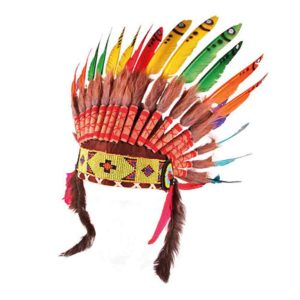 Indian Rainbow Feather Headdress - Smallable Toys for carnival costumes