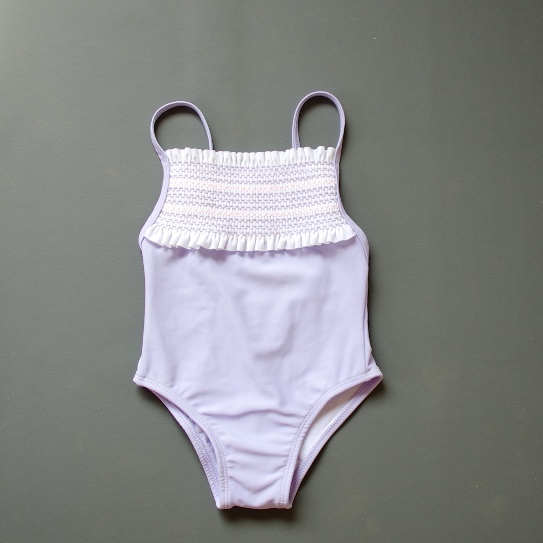 Pepe&Nika PepeandNika Little Apparel coquito Berlin Babies Girls baby swimsuit tahiti purple lilac embroidered summery