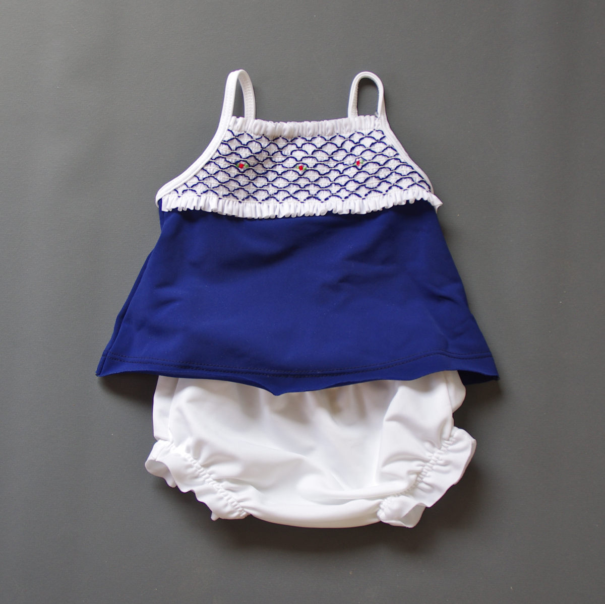 Pepe&Nika PepeandNika Little Apparel coquito Berlin Babies Girls balloon smock white blue pink summery swimwear beachwear