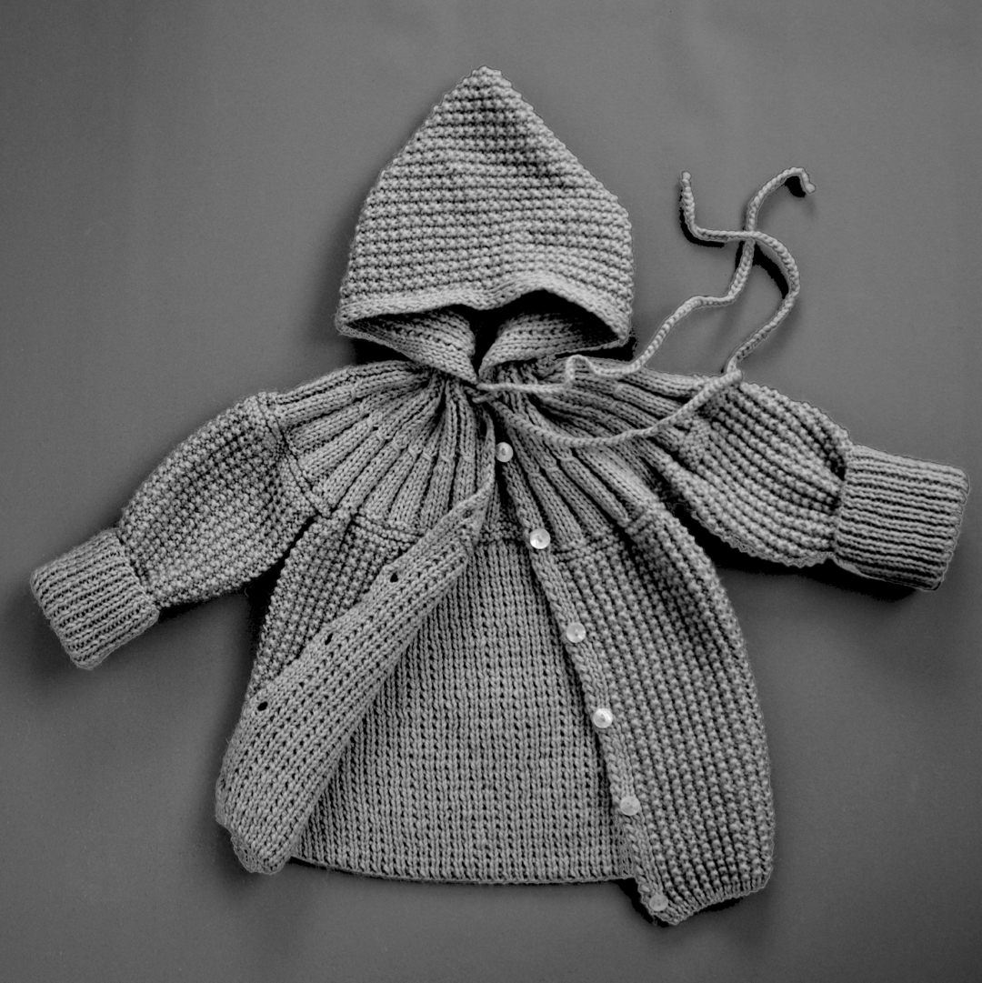 Pepe&Nika PepeandNika Little Apparel coquito Berlin Babies Girls Baby Coat Stone Grey Cardigan elegant handmade fairtrade
