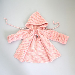 Pepe&Nika PepeandNika Little Apparel coquito Berlin Babies Girls Baby Coat pastel pink Cardigan elegant handmade fairtrade