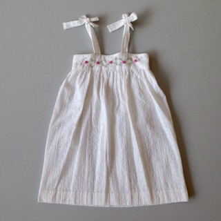 Pepe&Nika PepeandNika Little Apparel coquito Berlin Girls Broderie Sundress Soleil white embroidered elegant handmade fairtrade