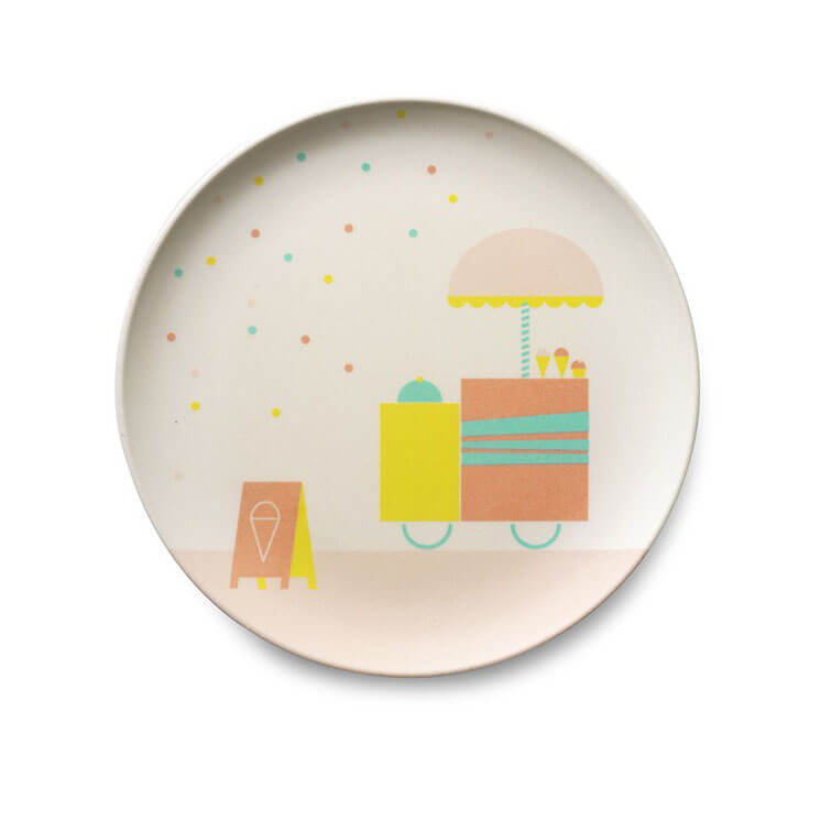 Pepe&Nika PepeandNika Little Apparel Kids Fashion Kindermode ENGEL. Bamboo Tablewear Icecream playful colorful party eco friendly Bambus Geschirr Set verspielt party umweltfreundlich kitchen wear Bamboo children tableware icecream