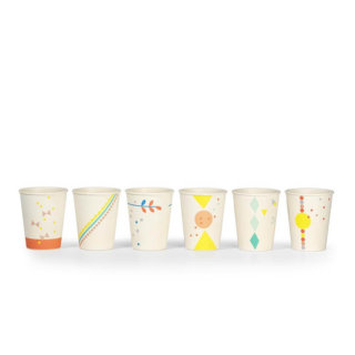 Pepe&Nika PepeandNika Little Apparel Kids Fashion Kindermode ENGEL. Printed Bamboo Cups Circus print playful colorful party eco friendly Bambus Tassen verspielt party umweltfreundlich kitchen wear Bamboo Set 6x printed cups