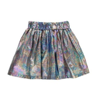 Pepe&Nika Pepe und NIka Finger in the Nose Little Apparel French Kinds Fashion Label Skirt in Metallic Look funky cool girls