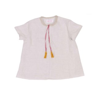 Pepe&Nika PepeandNika Kids Fashion Little Apparel Kindermode FROU FROU kids Linen Top off white sommerlich summery vernal frühlingshaft elegant plain natural casual