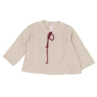 Pepe&Nika PepeandNika FROU FROU kids Little Apparel AW 16/17 Kids Fashion linen shirt country-chic vintage de luxe made in Germany de luxe hand-made handmade maiden romantic summery vernal shirt JUNE chinogreen linen bordeaux string