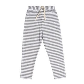 Pepeandnika gray label striped trousers white grey kids organic bio gots summer vernal