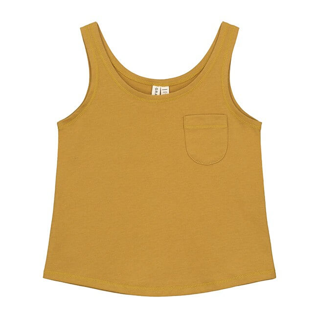Pepe&Nika pepeandnika Kids Fashion Little Apparel Kindermode gray label summer girls Mädchen Summer Tank Top organic cotton casual basics bio fairtrade mustard gelb yellow Baby