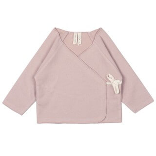Pepe&Nika PepeandNika Gray Label Little Apparel Cardigan Baby Cross Over Top vintage pink organic bio